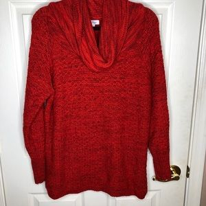 Indigo Red cowl neckline sweater large